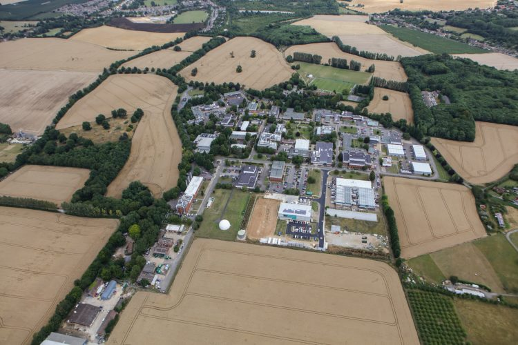 Kent Science Park aerial shot